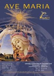 Ave Maria, Kamerkoor Lux, Den Haag, 24 november 2018, Maranathakerk, 1 december 2018, Agneskerk, Raoul Boesten