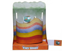 """Papercraft imprimible y armable del Diorama del videojuego """"Tiny Wings"""". Manualidades a Raudales."""