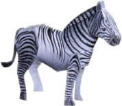Papercraft imprimible y armable de una cebra / zebra. Manualidades a Raudales.
