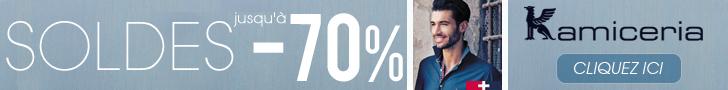 Chemises de qualité à prix réduits jusqu'à -70%