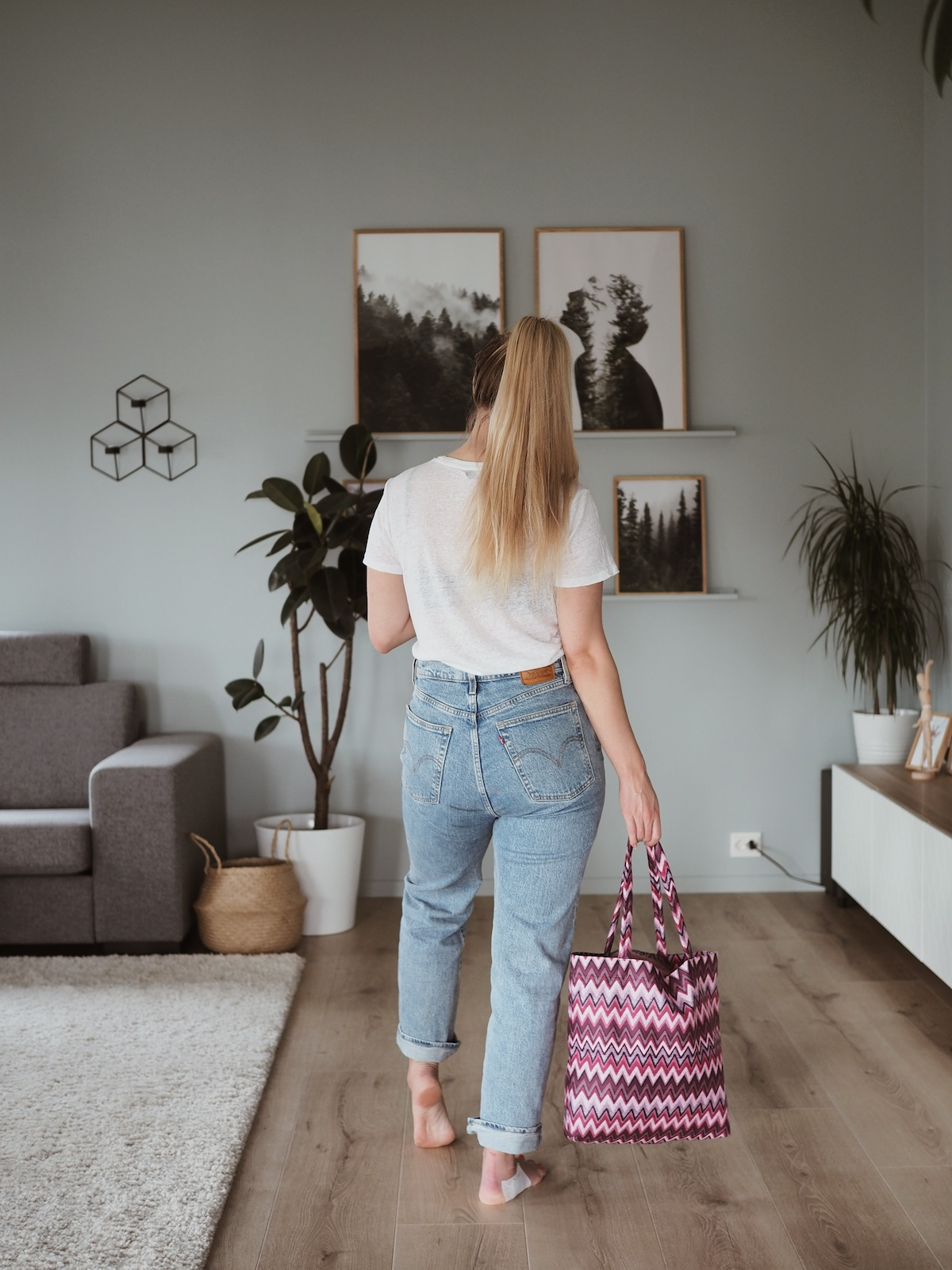 outfit with tote bag