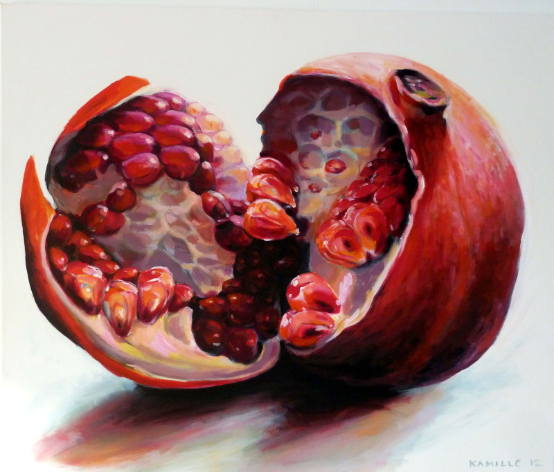 fruit and flower painting gallery by Kamille Saabre