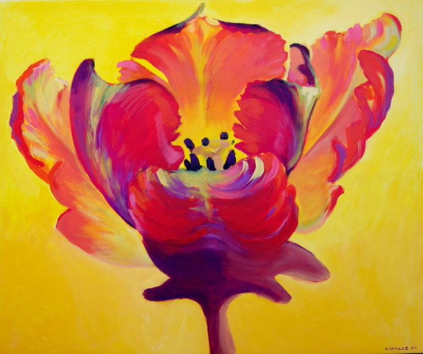 lillemaalid, buy contemporary fine art floral paintings by Kamille Saabre, flower painting
