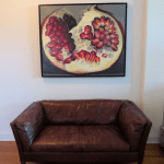 Pomegranate paintings in interior