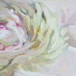 White Peony Painting by Kamille Saabre