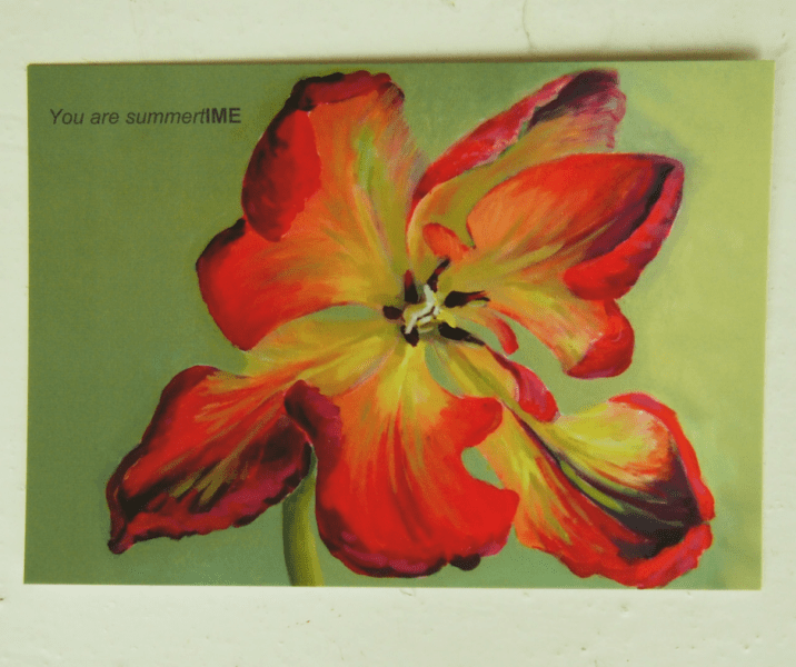 good wishes postcards by Kamille Saabre paintings