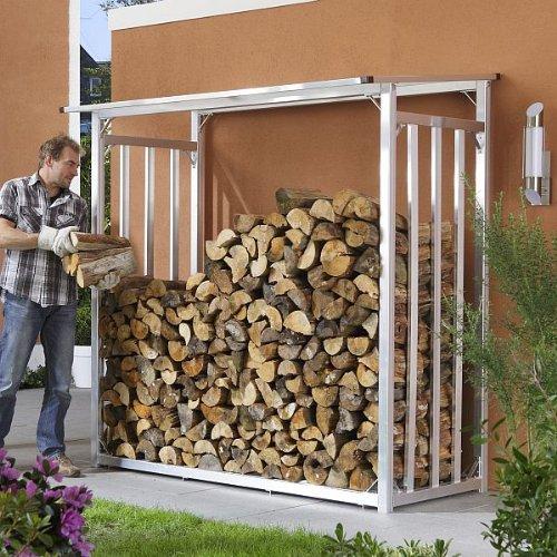 KaminholzLager Aluminium  KaminholzregalProfi