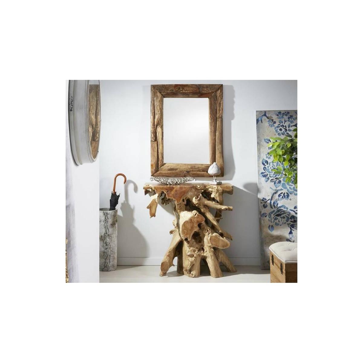Consola Raz natural madera teka