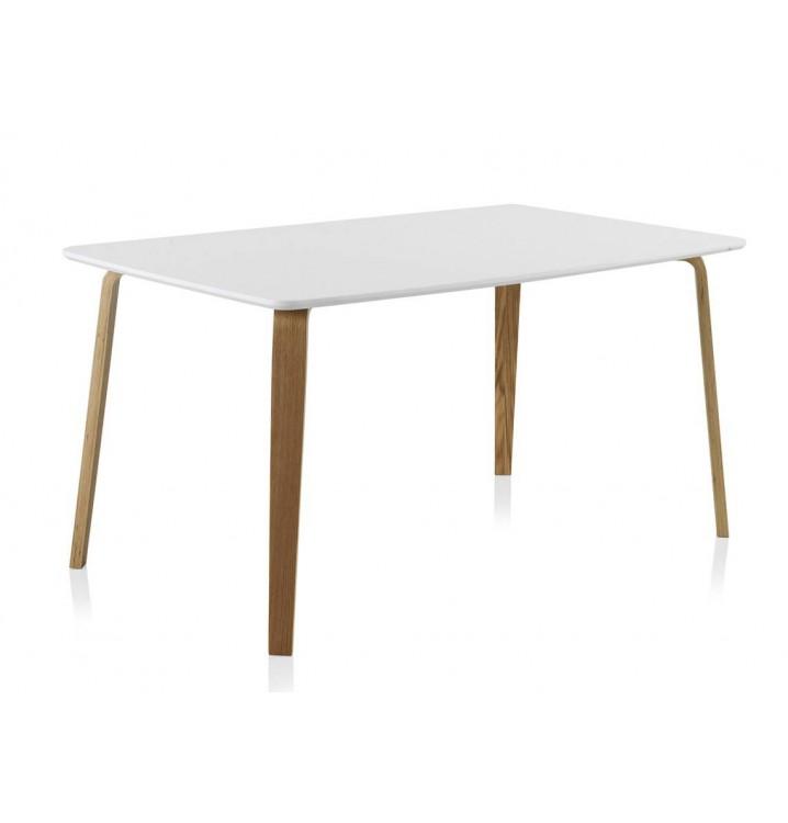 Mesa rectangular comedor madera haya Finland modelo 1 blanca