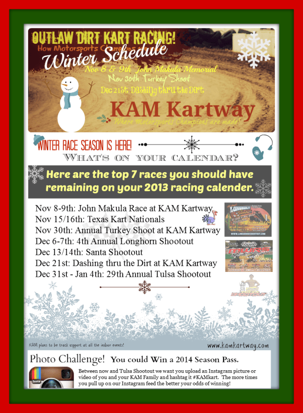 Winter Races for KAM Kartway drivers