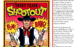 Wanted! Sponsors for the Short Track Shootout…..REWARD OFFERED
