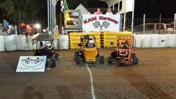 Hot Wheels class winners at KAM Kartway