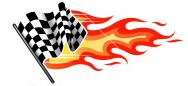 flaming checkered flag