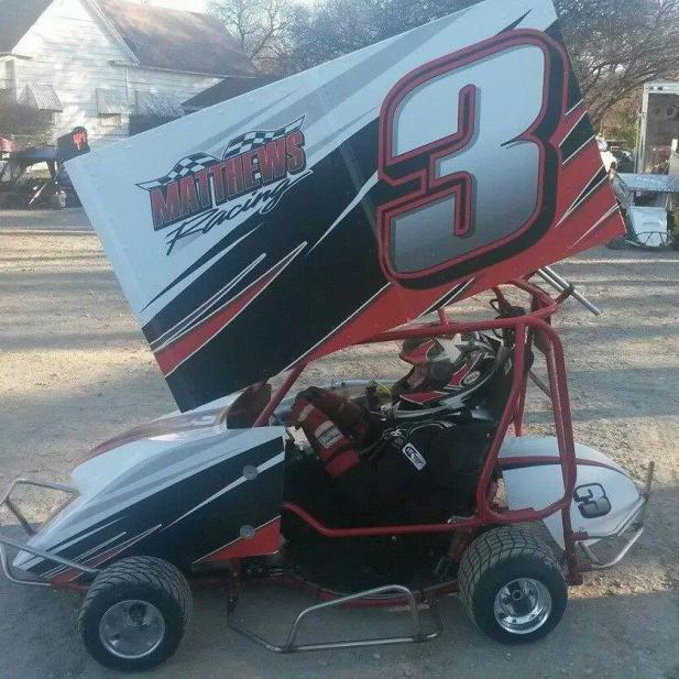 Branden Mathews in the Outlaw 250 Class at KAM Kartway