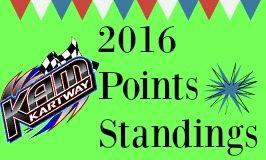 KAM Kartway points standings