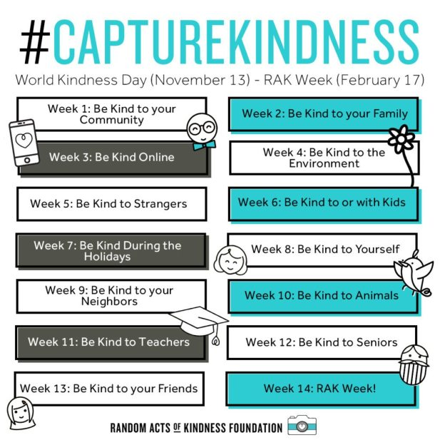 #capturekindness to do list