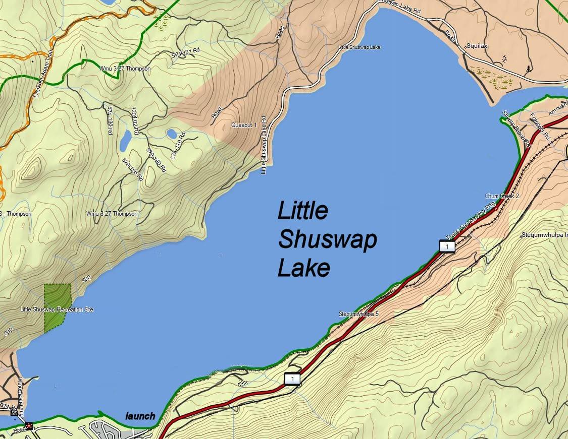 Little Shuswap Lake Kamloops Trails