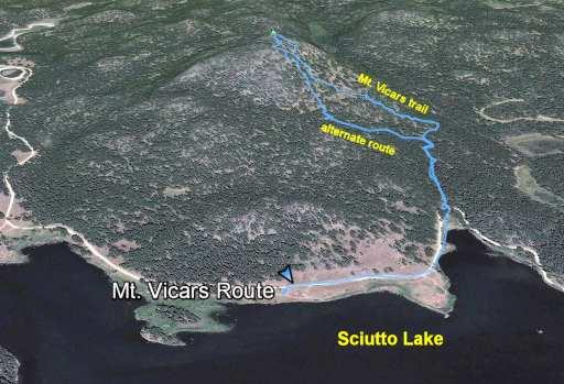 Mt. Vicars route