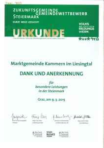 Urkunde Gemeinde
