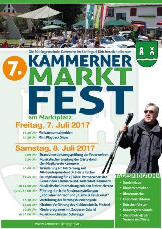 7. Kammerner Marktfest am 8.Juli 2017