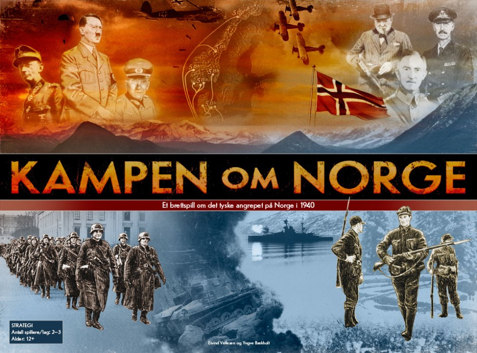 Kampen om Norge spilleske forside