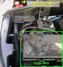 looking in the engine compartment you will see the fuse box to the starboard side behind it is a smaller compartment which will refer to as the firewall  [ 900 x 1200 Pixel ]