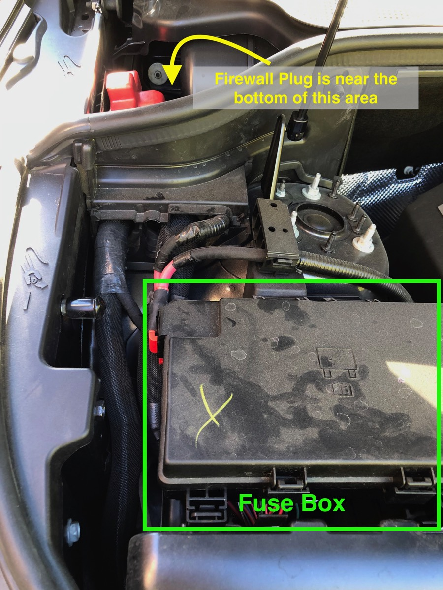 hight resolution of looking in the engine compartment you will see the fuse box to the starboard side behind it is a smaller compartment which will refer to as the firewall