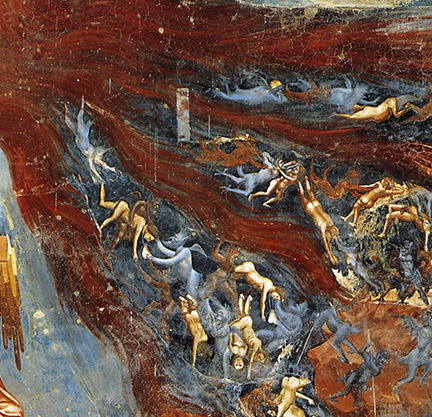 Hellfire (detail of Giotto fresco)