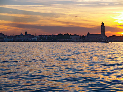 Venice sunset, from the Lagoon