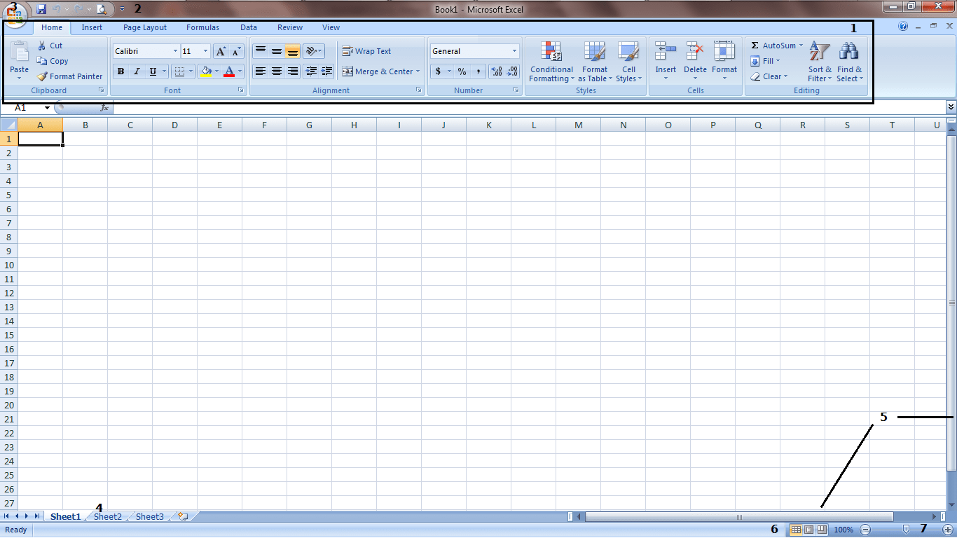 Antarmuka Microsoft Excel