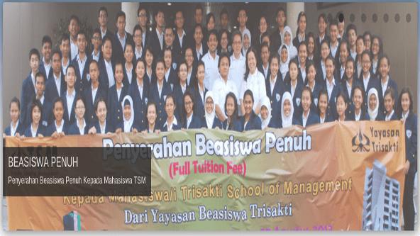 Beasiswa Penuh Trisakti School of Management 2014
