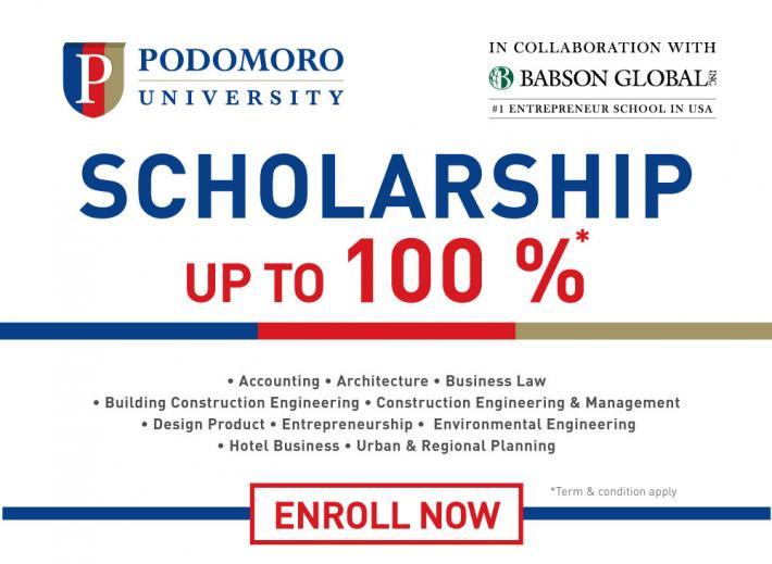 Beasiswa Podomoro University 2016