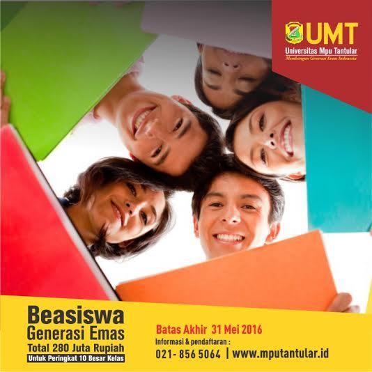 Beasiswa Generasi Emas Universitas Mpu Tantular