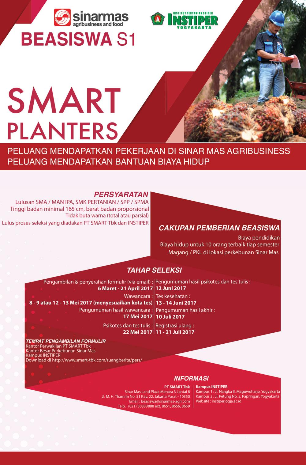 Beasiswa SMART Planters 2017