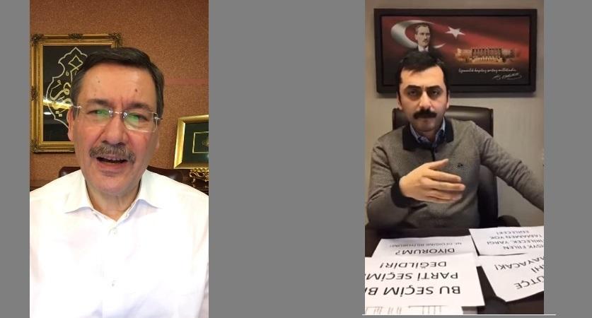 CHP Millet Vekili Eren Erdem ve Melih Gökçek'in EVET-HAYIR kapışması