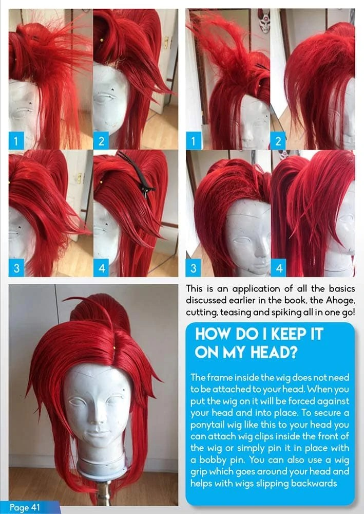 Wig Styling For Cosplay DOWNLOADPDF KamuiCosplay