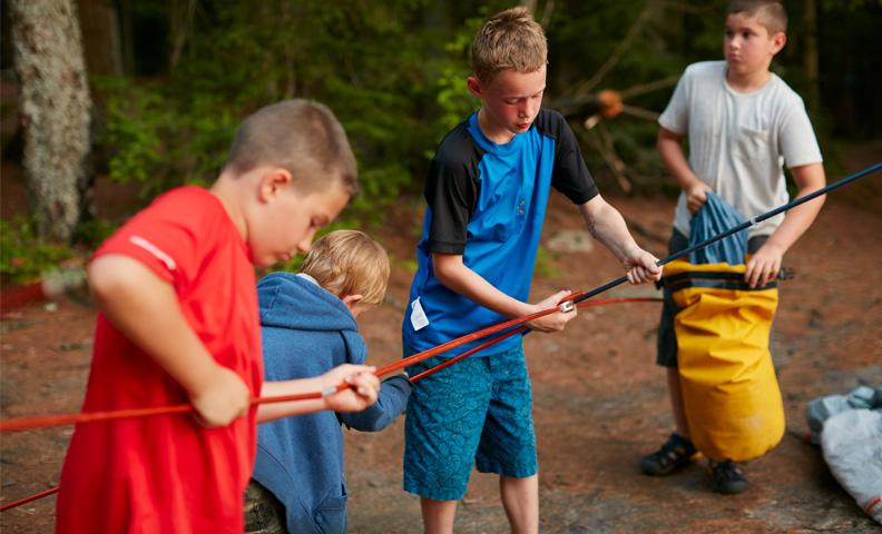 children practice