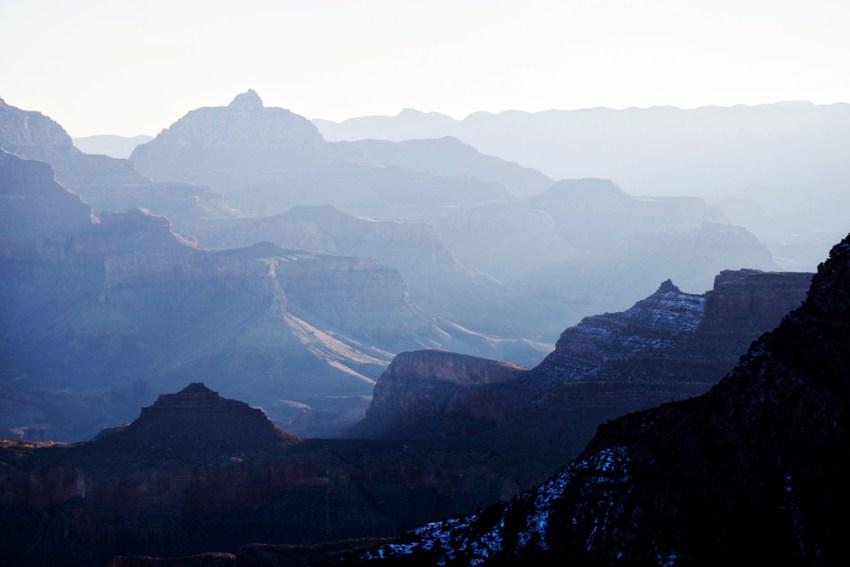 Grand Canyon sunrise with snow, Arizona