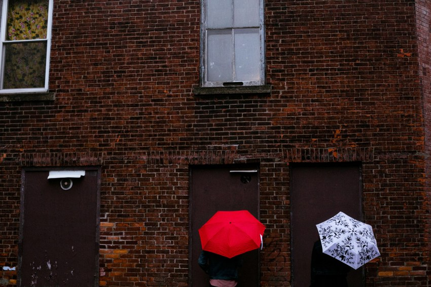 rainy day photos downtown Fredericton NB by Kandise Brown