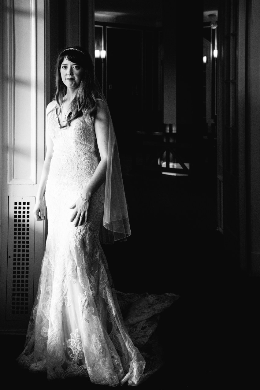 rainy day indoor wedding portraits Algonquin Resort by Kandise Brown