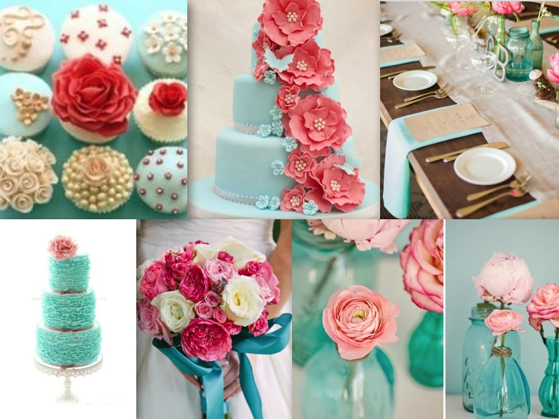Gallery Coral And Turquoise Wedding Party