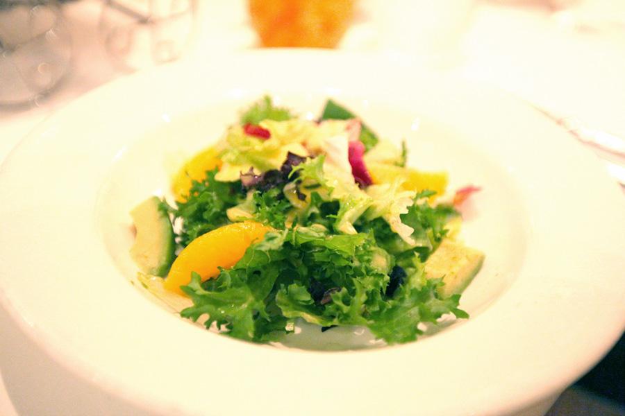 Curly Endive Watercress Orange salad