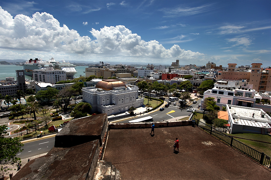 Castillo San Christobal view of Old San Juan
