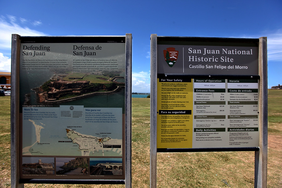 San Juan Castillo San Felipe Sign