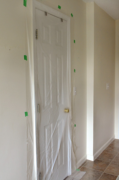Plastic-Over-Closet-Door