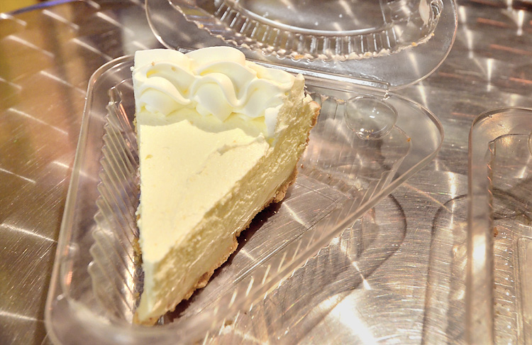 Key Lime Pie Factory - coconut key lime pie slice