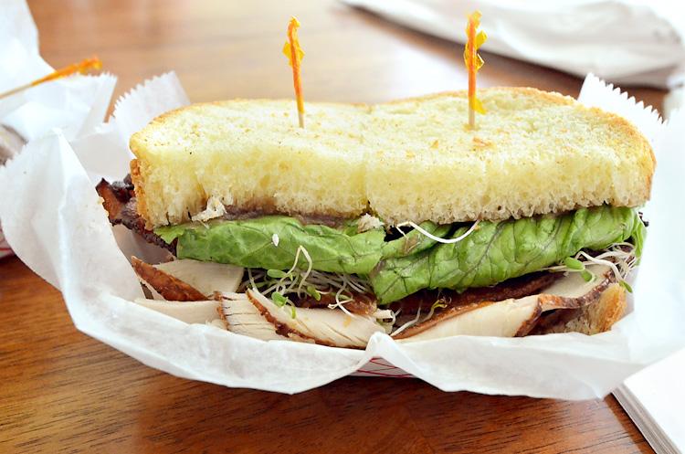 Old Town Bakery - TB&J sandwich