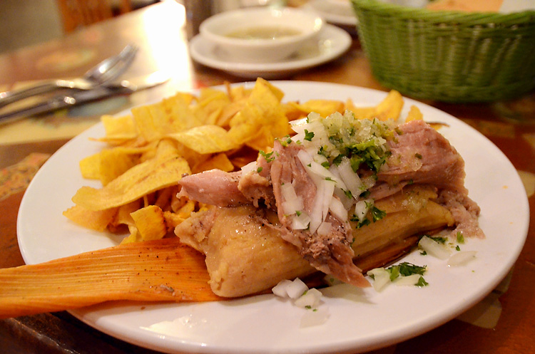 Tamal Cubano en Hoja