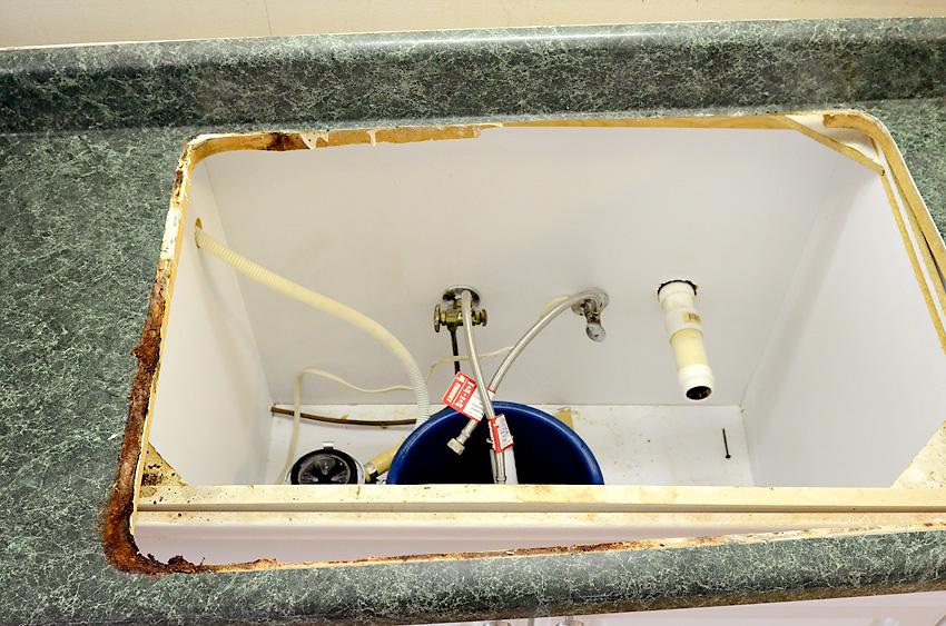 Kitchen Remodel Sink Demo