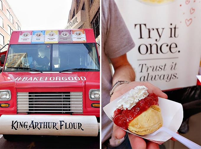 2015 International Biscuit Fest King Arthur Flour Strawberry Rhubarb Biscuit